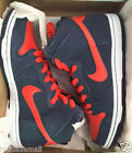 Nike SB Dunk Hi Obsidian Team Orange White 305050-481 Mens