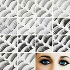 10 Pairs of Black Thick Natural Silk Fake False Extension Eyelashes Make Up