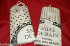 SHABBY CHIC VINTAGE FRENCH STYLE CREAM SALLE DE BAIN SHOWER CURTAIN  - NEW