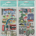 U CHOOSE  Jolee's   LONDON   PARIS   3D Stickers travel