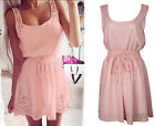 Summer Women Casual Chiffon Dresses Sleeveless Cocktail Short Mini Dress