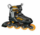 Boys Orange and Black Stryde Children Adjustable Inline Skates