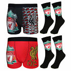 Liverpool FC Official Football Gift Mens Crest Socks & Boxer Shorts (RRP£14.99!)