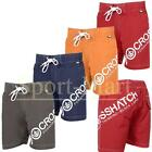 Mens Crosshatch Side Logo Print Beach Swim Shorts Summer Surf Board Short Size
