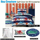 Sea Creature Quilt Cover Set OR Accessories Jiggle & Giggle SINGLE DOUBLE QUEEN
