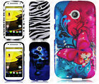 For Motorola Moto E 2nd Gen HARD Protector Case Snap On Phone Cover Accessory