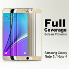 Full Coverage Tempered Glass Screen Protector for Samsung Galaxy Note 5 4 S6