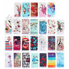 For Motorola Phone PU Leather Hybrid Rubber ID Card Slot Wallet Purse Case Cover