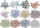 20Pcs New Multi-Colored Austria Crystal Silver Plated Spacer Beads Charms 6/8mm