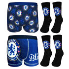 Chelsea FC Official Football Gift Set Boys Socks & Boxer Shorts (RRP £12.99)