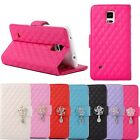 Rhinestone Flip Wallet Leather Case Cover For Samsung Galaxy Note 4 Trendy