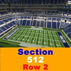 2 TIX Indianapolis Colts Season Tickets 9/6 Lucas Oil Stadium 229