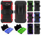 AT&T GoPhone Huawei Tribute Combo Holster HYBRID KICK STAND Case + Screen Guard