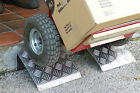 1 PAIR Portable Step Ramp Lightweight Strong Chequer Plate Will Not Rust or Rot