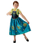Child Princess Frozen Fever Deluxe Anna Outfit Fancy Dress Costume