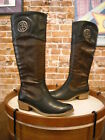 Bare Traps Paramount Black & Brown Tall Shaft Riding Boot New