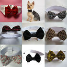 Adjustable Fashion Velcro Bow Tie Collar Dickie Bow Tie For Pet Dog Cat 7Colors