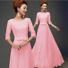 Plus Size Long Formal Evening Ball Gown Party Prom Bridesmaid Dress Women Stock