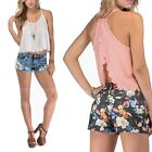 2015 Women Casual Shirts Tops Scallops Cut Backless Chiffon Vest Clothes Trendy
