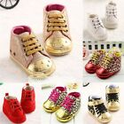Cute Soft button clib baby shoes boys girls anti-slip size 0-18 months toddlers