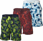 S40 Mens Swim Hawiian Floral Print Elasticated Shorts Beach Summer Mesh Lined