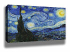 VAN GOGH STARRY NIGHT ART HIGH QUALITY CANVAS POSTER PRINT - CHOOSE SIZE/FRAME