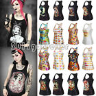 2015 New Women 3D Graphic Print Sleeveless Vest Singlet Bodycon T-Shirt Tank Top