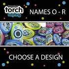 PERSONALISED POCKET TORCH KEYRING KEYCHAIN *CHOOSE A NAME O - R* BRAND NEW