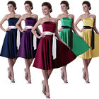 STUNNING Graduation Bridesmaid Ball Gown Evening Party Cocktail SHORT Prom Dress