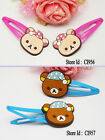 Rilakkuma Hair Clip ~Free Shipping 2 pieces~ Barrette FR067 (2 groups to choose)