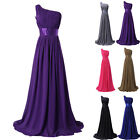 FREE SHIP Purple Long Maxi Bridesmaid Evening Party Gowns Prom Maxi Dresses Plus