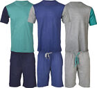 PJ11 Mens T-Shirt & Shorts Lounge Set Cotton Rich Pyjama Pjs