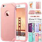 For Apple iPhone 7 6s Plus Shockproof Rugged Hybrid Rubber Hard Cover Case