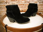 Sole Society Maren Black Suede Tie Detail Ankle Boot NEW