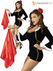 Ladies Spanish Fancy Dress Costume Womens Matador Outfit Latin Mexican Spain