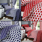 STARS RED WHITE BLUE QUILTED BEDSPREAD BED  QUILT THROW COVER NEW