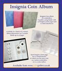 Coingallery Insignia 4 Ring Coin Album Binder For Coin Holders with Pages