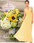 BNWT EMILY Buttercup Yellow Chiffon Maxi Prom Evening Bridesmaid Dress UK 6 - 18