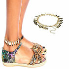 Chic Celebrity Leaf Charm Chain Anklet Bracelet Foot Jewelry Barefoot Sandhal