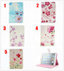 Beautiful flower PU Leather Stand Case Cover for Various ipad 2 3 4 5 6 tablet