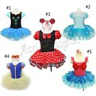 New Minnie Mouse Mermaid Girl Kid Party Costume Ballet Tutu Leotard Skirt Y7-321