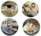 Collectable Set of 4 Large Carry on Camping Film Picnic, Lunch, BBQ Food Plates