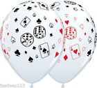 Casino Balloons Cards and Dice Latex Vegas Poker James Bond Party Decorations $3.13 USD on eBay