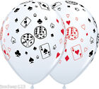 Casino Balloons Cards and Dice Latex Vegas Poker James Bond Party Decorations $11.24 USD on eBay