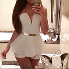 Women Sexy V Neck Jumpsuit Romper Short Trousers Bodycon Clubwear Playsuit Dress