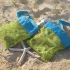 2015 Useful Mesh Tote Bag Clothes Toys Carry All Sand Away Beach Bag XL&S UK ED