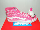VANS SK8 HI SLIM PINK HELLO KITTY LACE UP TRAINERS. BNIB