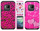 For HTC One M9 HARD Hybrid Rubber Silicone Case Phone Cover Accessory