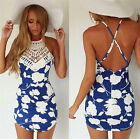 1PC Women's Summer Bandage Bodycon Lace Evening Party Cocktail Short Mini Dress