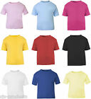 NEW Baby Toddler Boy/Girl Plain Short Sleeve T-Shirt Top 100% Cotton 0 to 3 Kids
